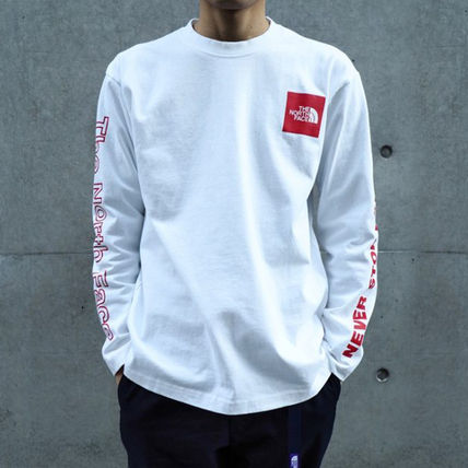 THE NORTH FACE Long Sleeve Crew Neck Long Sleeves Cotton Long Sleeve T-shirt Logo 2