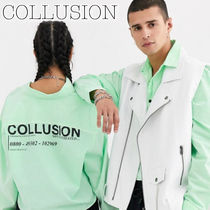 collusion Casual Style Unisex Street Style Long Sleeves Cotton Medium