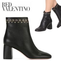 RED VALENTINO Leather Ankle & Booties Boots
