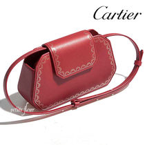 Cartier Calfskin 2WAY Plain Party Style Elegant Style Shoulder Bags