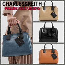Charles&Keith Faux Fur A4 2WAY Leather Party Style Office Style