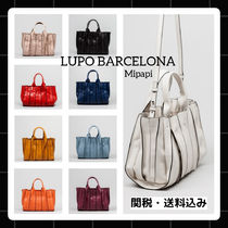 Lupo Barcelona A4 2WAY Plain Leather Handbags