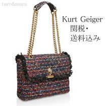 Kurt Geiger Casual Style 2WAY Chain Elegant Style Shoulder Bags