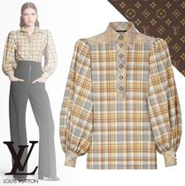 Louis Vuitton Other Check Patterns Casual Style Long Sleeves Cotton Medium