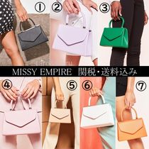 MISSY EMPIRE Faux Fur Plain Handbags