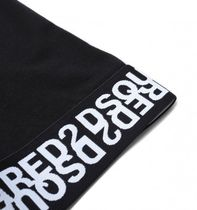 D SQUARED2 More T-Shirts Crew Neck Plain Cotton Short Sleeves Logos on the Sleeves 7