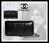 CHANEL Casual Style Lambskin Plain Elegant Style Party Bags