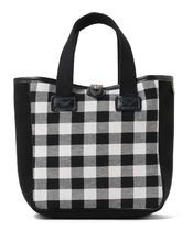 BEAMS Gingham Casual Style Blended Fabrics Collaboration Leather
