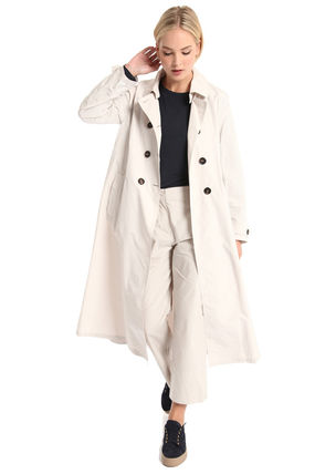 Casual Style Plain Office Style Trench Coats