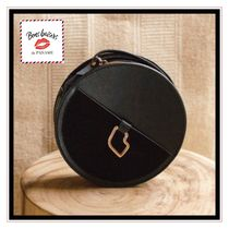 Bons baisers de Paname Plain Leather Elegant Style Shoulder Bags
