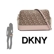 DKNY Casual Style Chain Leather Shoulder Bags