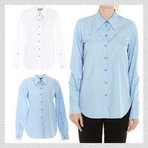N21 numero ventuno Long Sleeves Plain Cotton Shirts & Blouses