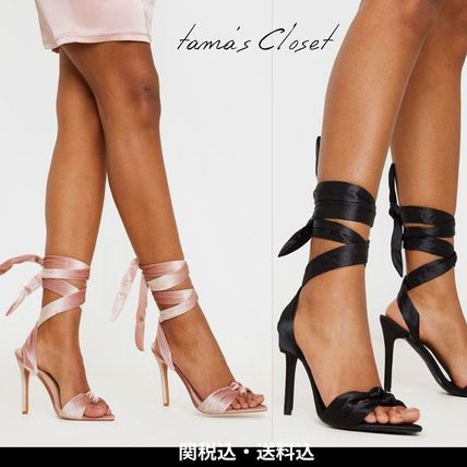 Square Toe Casual Style Plain Pin Heels Party Style