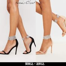 Lipsy Casual Style Suede Plain Pin Heels Party Style Elegant Style