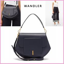 WANDLER Casual Style Suede 2WAY Leather Shoulder Bags