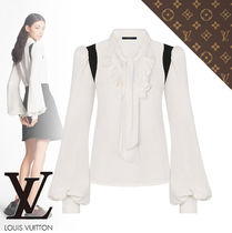 Louis Vuitton Silk Long Sleeves Medium Party Style Elegant Style