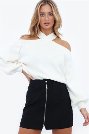 Casual Style Blended Fabrics Street Style Long Sleeves Plain