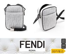 FENDI Unisex Plain Messenger & Shoulder Bags