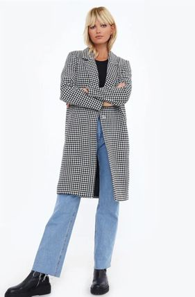 Other Check Patterns Casual Style Blended Fabrics