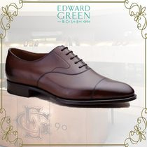 Edward Green Straight Tip Plain Leather Oxfords