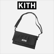 KITH NYC Casual Style Unisex Nylon Street Style Plain Shoulder Bags