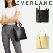 Everlane Casual Style Unisex Plain Leather Totes