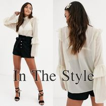 IN THE STYLE Casual Style Chiffon Street Style Long Sleeves Plain Medium