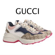 GUCCI Monogram Casual Style Street Style Party Style Elegant Style