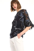 Diffusione Tessile Flower Patterns Office Style Elegant Style Shirts & Blouses