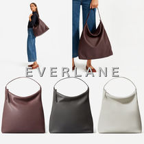 Everlane Casual Style Unisex A4 Plain Leather Office Style Handbags