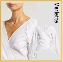merlette Long Sleeves Cotton Puff Sleeves Shirts & Blouses