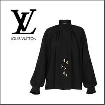 Louis Vuitton Silk Long Sleeves Medium Party Style Office Style