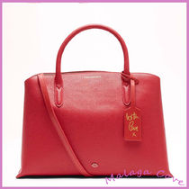 Lulu Guinness Casual Style 2WAY Plain Leather Handbags