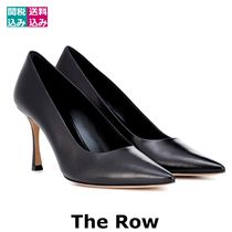 The Row Plain Leather Pin Heels Office Style Stiletto Pumps & Mules