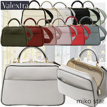 Valextra Casual Style Street Style 2WAY Plain Leather Party Style