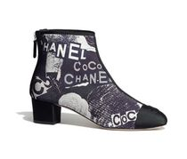 CHANEL Casual Style Block Heels Elegant Style Ankle & Booties Boots
