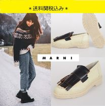 MARNI Rubber Sole Casual Style Unisex Collaboration Plain Leather