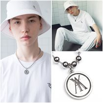 ANOTHERYOUTH Unisex Street Style Plain Logo Necklaces & Chokers