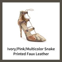 Jessica Simpson Camouflage Casual Style Faux Fur Street Style Pin Heels