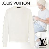 Louis Vuitton Crew Neck Blended Fabrics Long Sleeves Plain Cotton