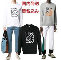 LOEWE Long Sleeves Plain Cotton Sweatshirts