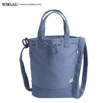 WHO.A.U Casual Style Unisex Canvas Street Style 2WAY Office Style