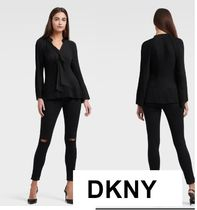 DKNY Long Sleeves Plain Office Style Elegant Style
