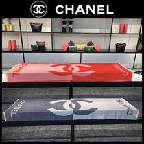 CHANEL Casual Style Cashmere Silk Plain Party Style
