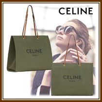 CELINE Cabas Casual Style Calfskin Office Style Elegant Style Totes