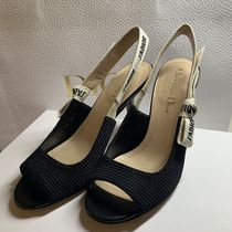 Christian Dior JADIOR Open Toe Blended Fabrics Plain Pin Heels Party Style