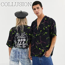 collusion Casual Style Unisex Street Style Medium Short Sleeves