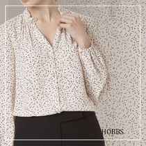 Hobbs London Flower Patterns Casual Style Long Sleeves Office Style