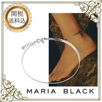 Maria Black Casual Style Silver Elegant Style Anklets