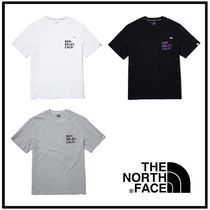 THE NORTH FACE Unisex Plain Cotton Short Sleeves Logo Outdoor T-Shirts